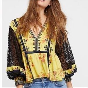 Boogie All Night Lace Sleeve Top